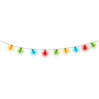 Christmas Lights Transparent PNG Image