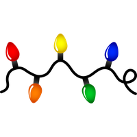 Christmas Decoration Lights Image PNG Image