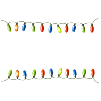 Christmas Decoration Lights PNG Image