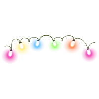 Christmas Decoration Lights Transparent Image PNG Image