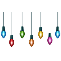 Christmas Decoration Lights Transparent PNG Image