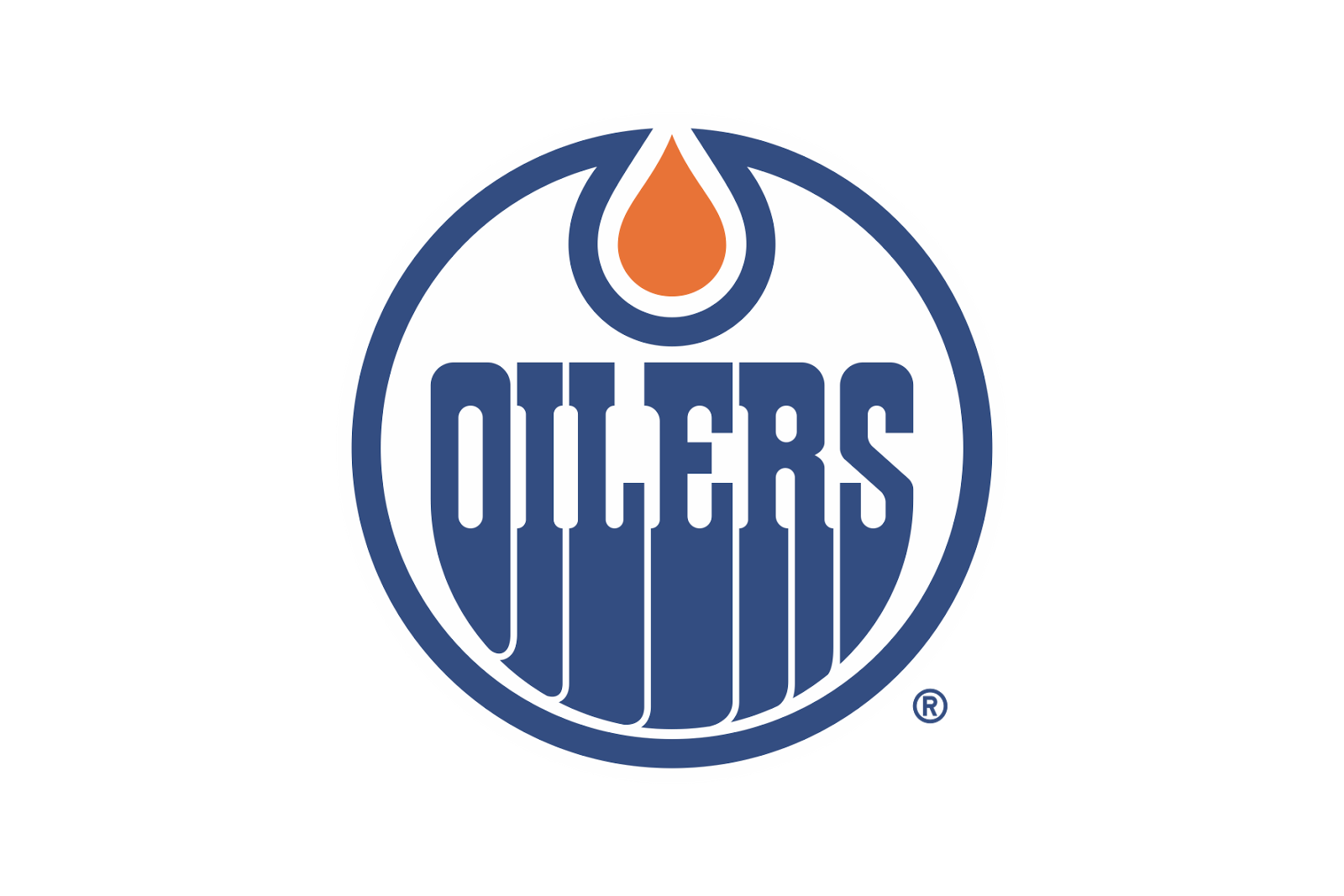 Logo Edmonton Oilers Text Free HD Image PNG Image