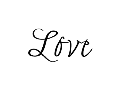 Love Tattoo Transparent PNG Image