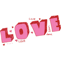 Similar Love Text PNG Image
