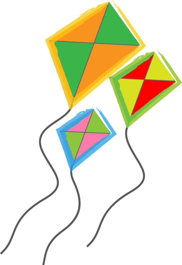 Makar Sankranti Line Triangle For Happy Drawing PNG Image