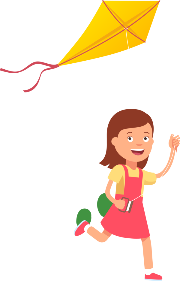 Makar Sankranti Cartoon Kite Child For Happy Day PNG Image