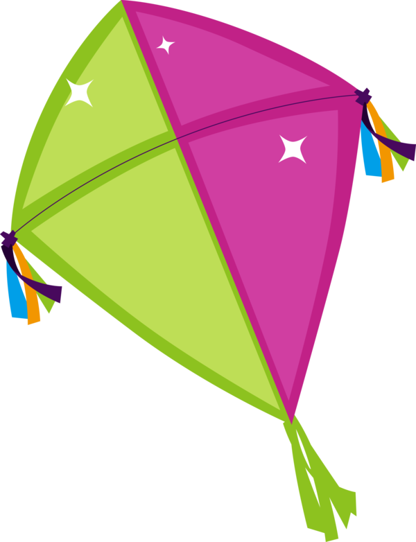 Makar Sankranti Leaf Line Kite For Happy Quote PNG Image