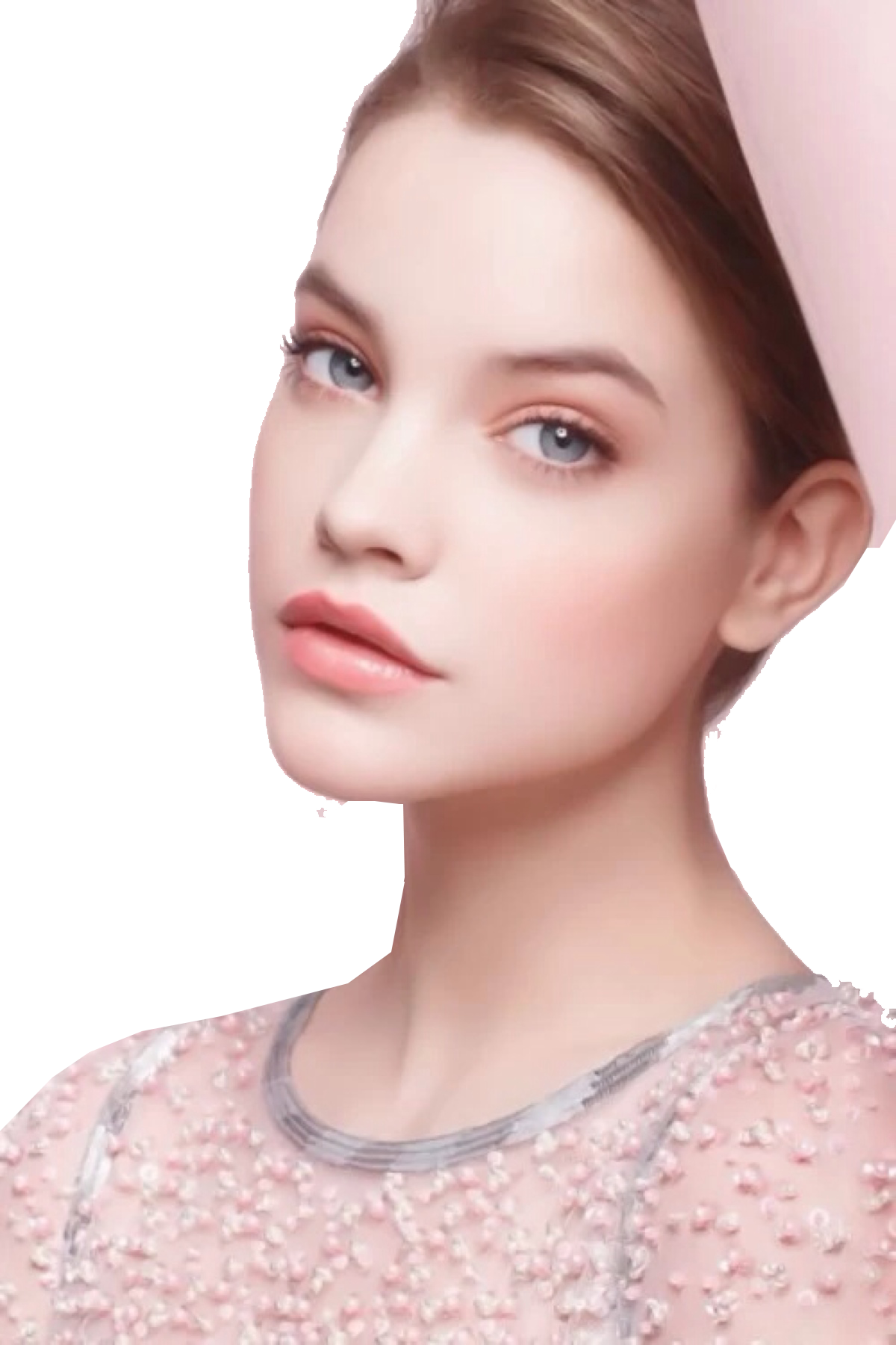 Cute Hairstyle Eye Makeup Palvin Model Cosmetics PNG Image