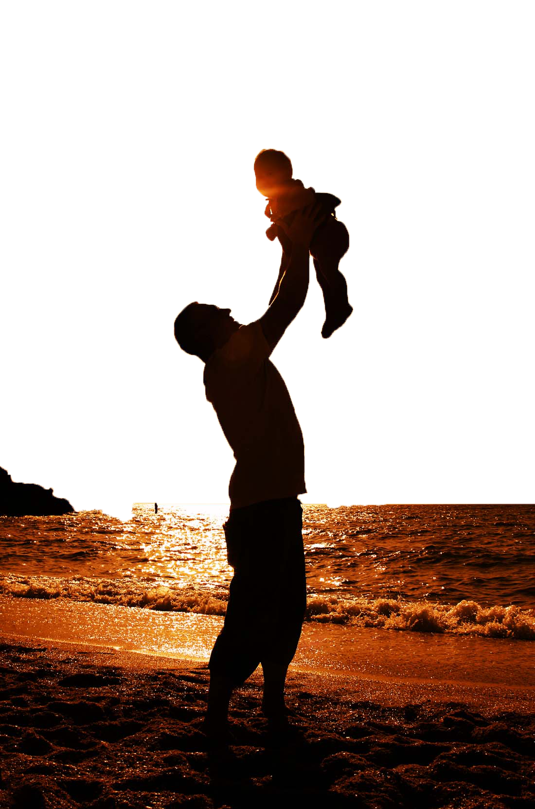 Recreation Silhouette Family Fathers Father Day PNG Image
