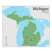 Download Map Michigan Us Election Ecoregion 2016 ...