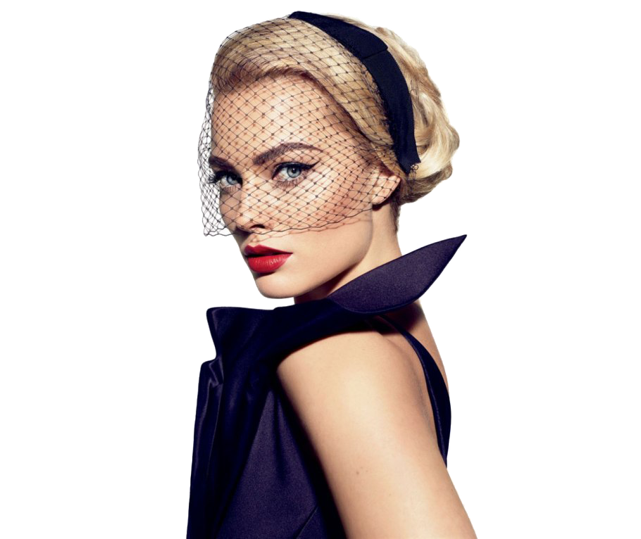 Margot Robbie Transparent Background PNG Image