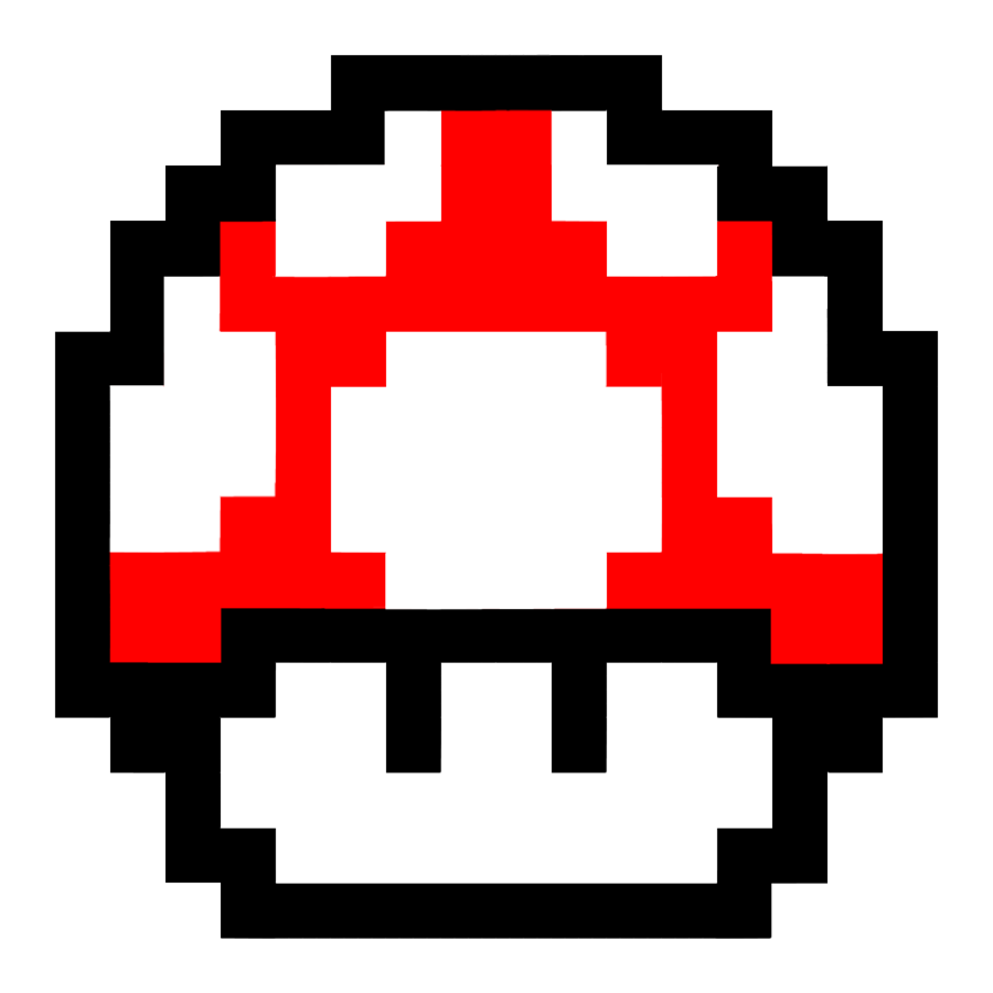 Mushroom Text Bros Mario Super Red PNG Image