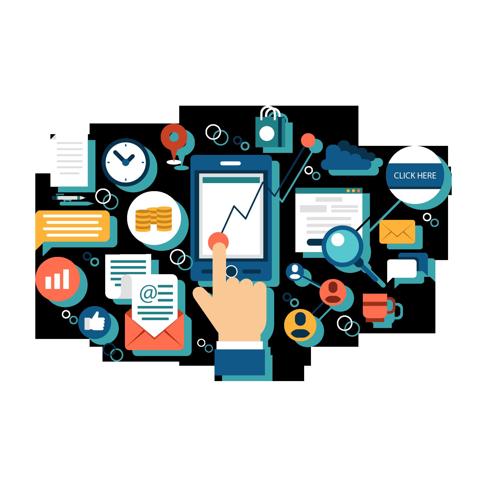 Download Media Business Marketing Digital Illustration ...