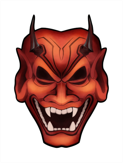 Oni Mask Clipart PNG Image