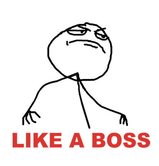 Like A Boss File PNG Image