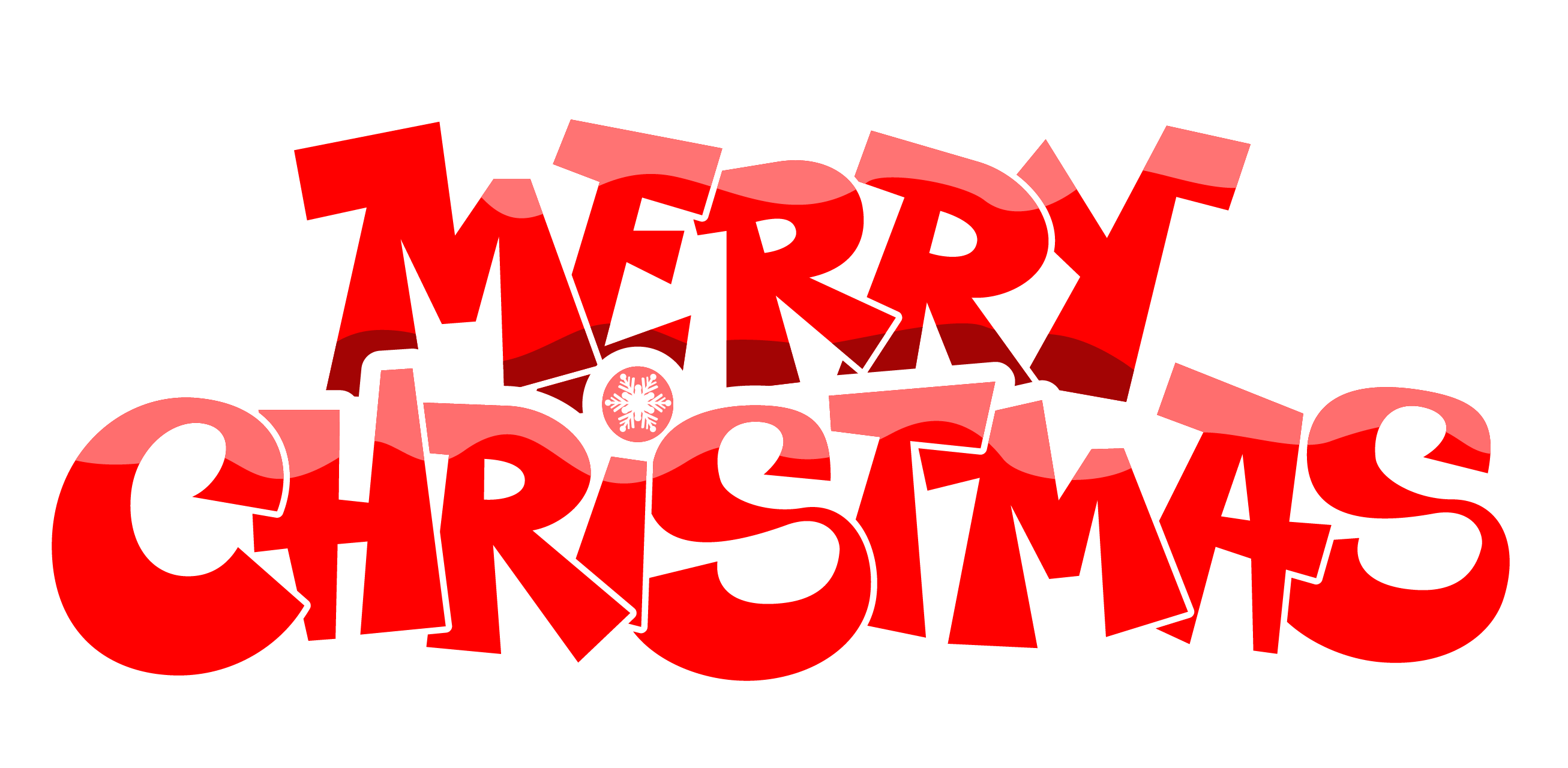 Merry Christmas Text Transparent PNG Image