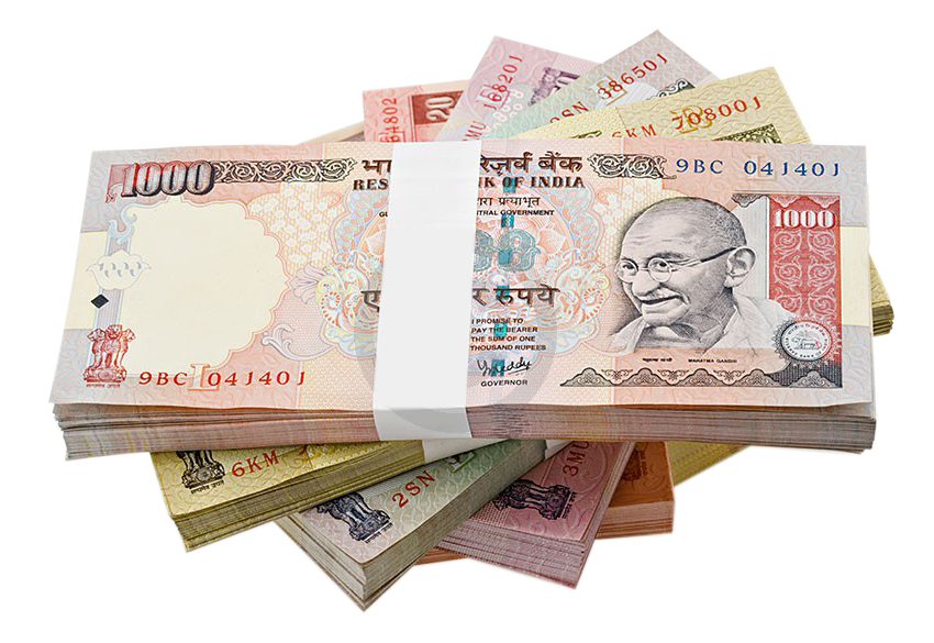 Indian Rupee Banknote Transparent Image PNG Image
