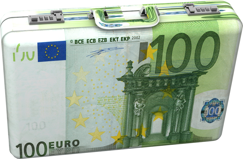 Box Banknotes Bill Note Currency 100 Euro PNG Image