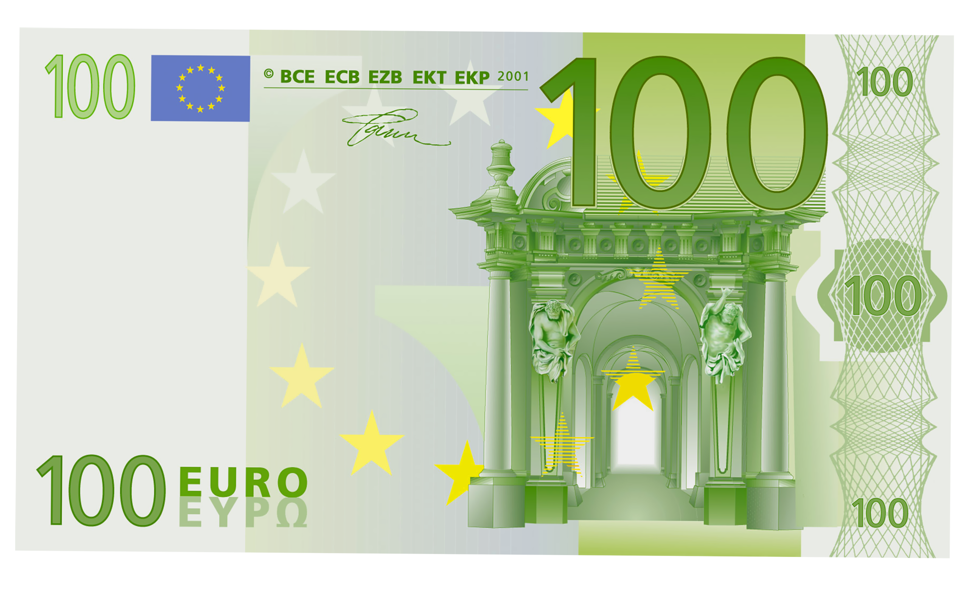 20 Banknote 50 Note 100 Euro PNG Image
