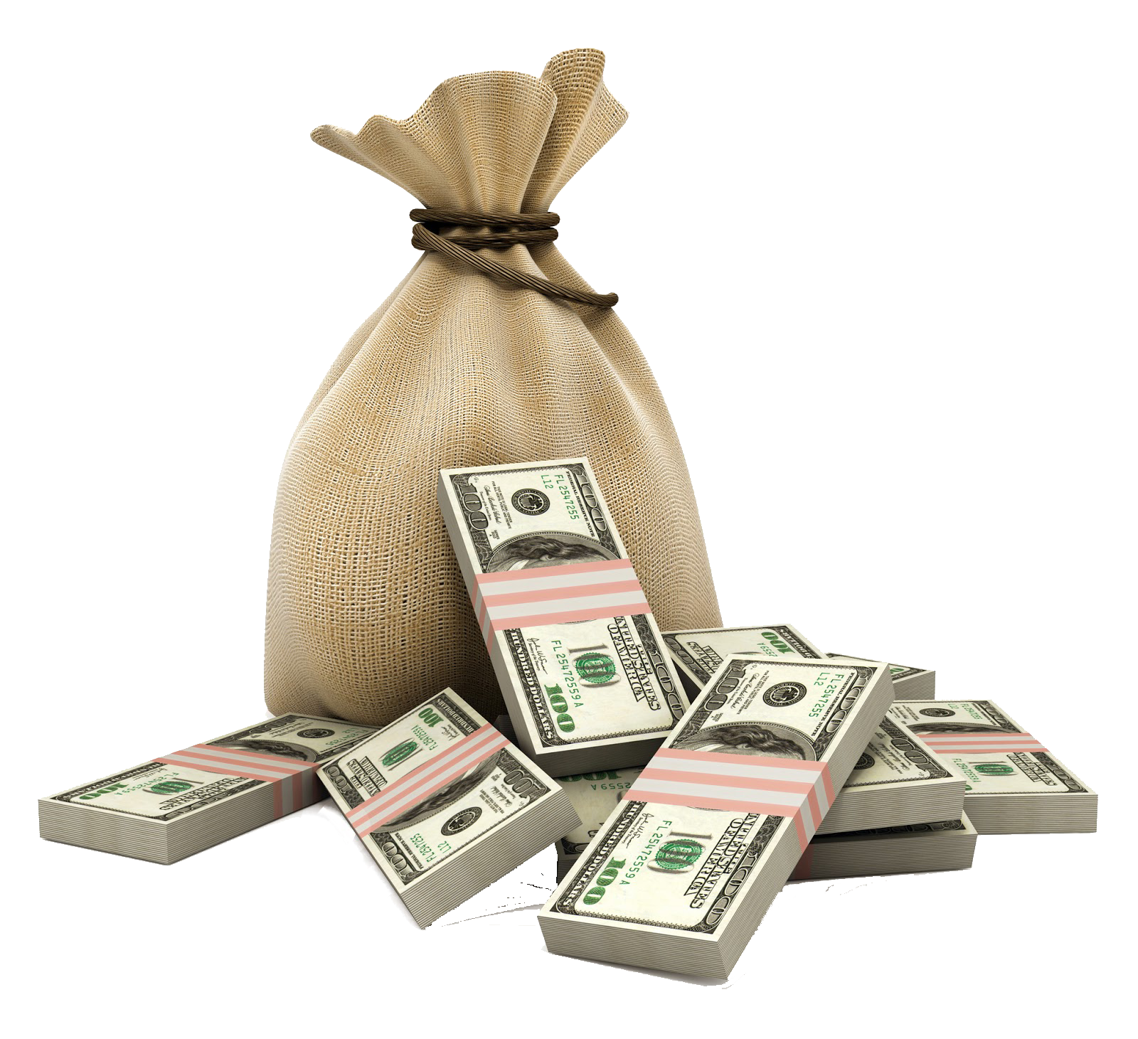 Bag Money Loan Dollar Cash Currency Purse PNG Image