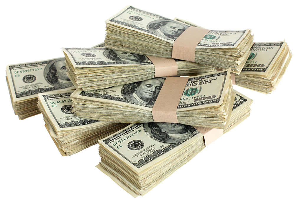 United Stacked Banknote Bill Dollar One-Dollar Bills PNG Image