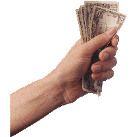 Money Dollars In Hand Png Image PNG Image