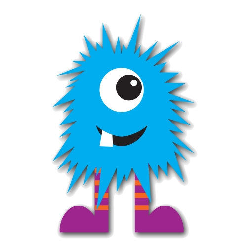 Blue Monster Photo PNG Image