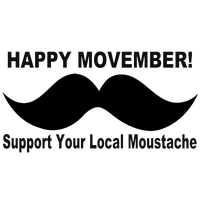 No Shave Movember Day Mustache Download Png PNG Image