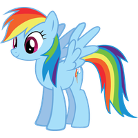 Rainbow Dash Vector Standing Image PNG Image