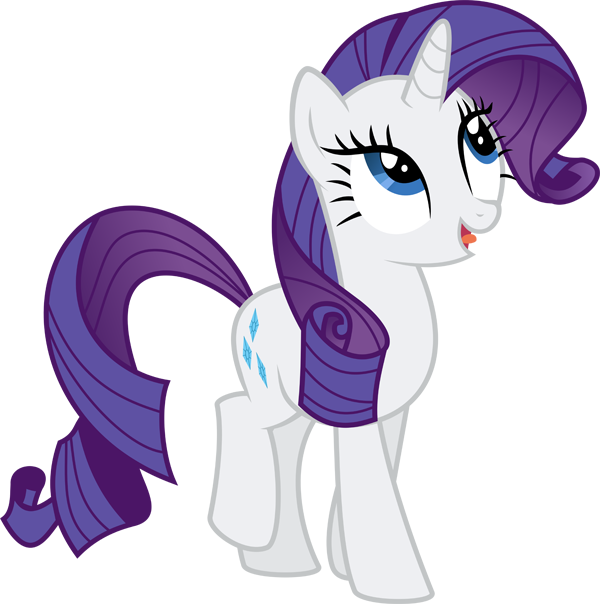 My Little Pony Rarity Clipart PNG Image