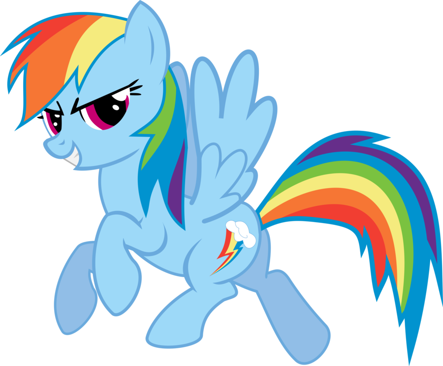 Rainbow Dash Vector Standing File PNG Image
