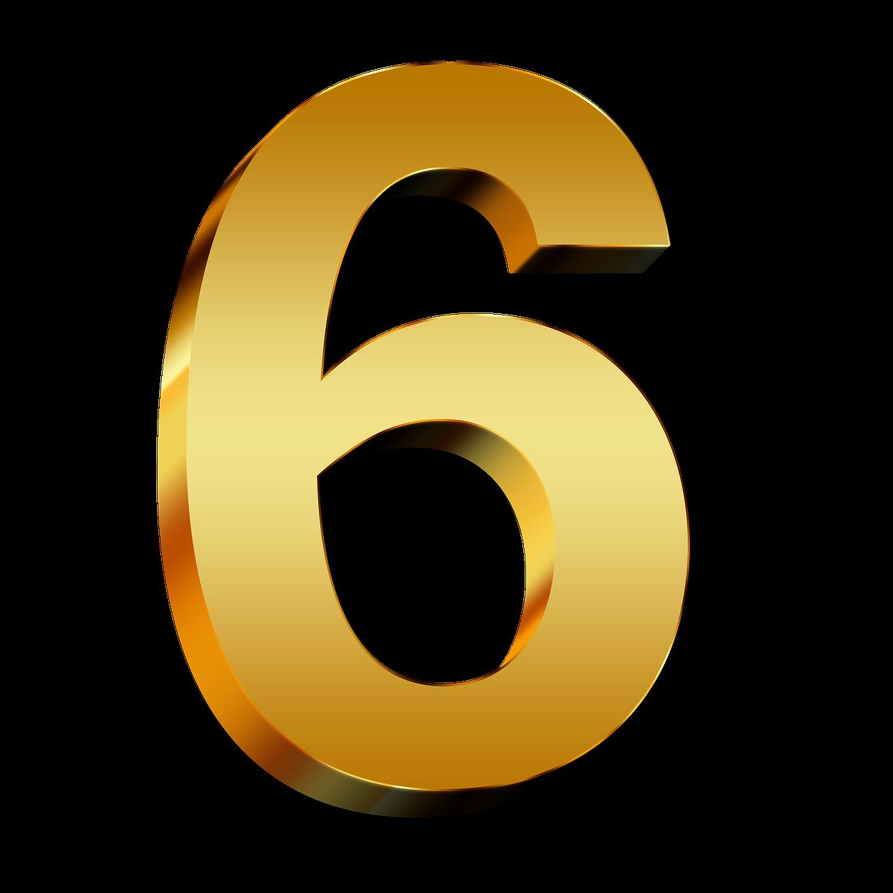 Download 6 Number Png HQ PNG Image | FreePNGImg