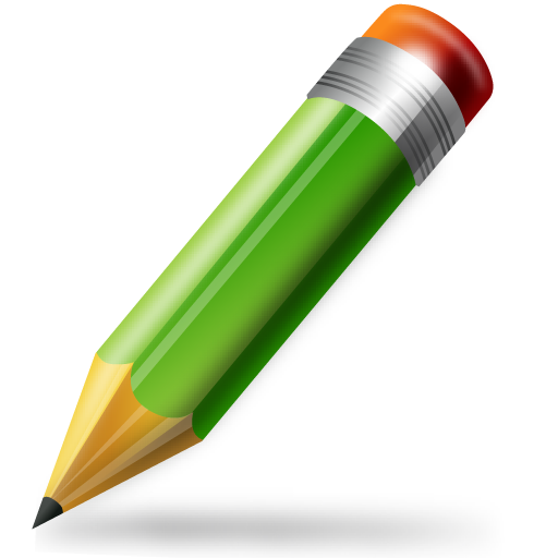 Green Pencil Icon PNG Image