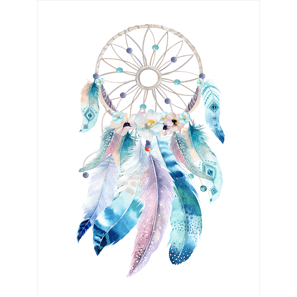 Watercolor Painting Dreamcatcher HQ Image Free PNG PNG Image