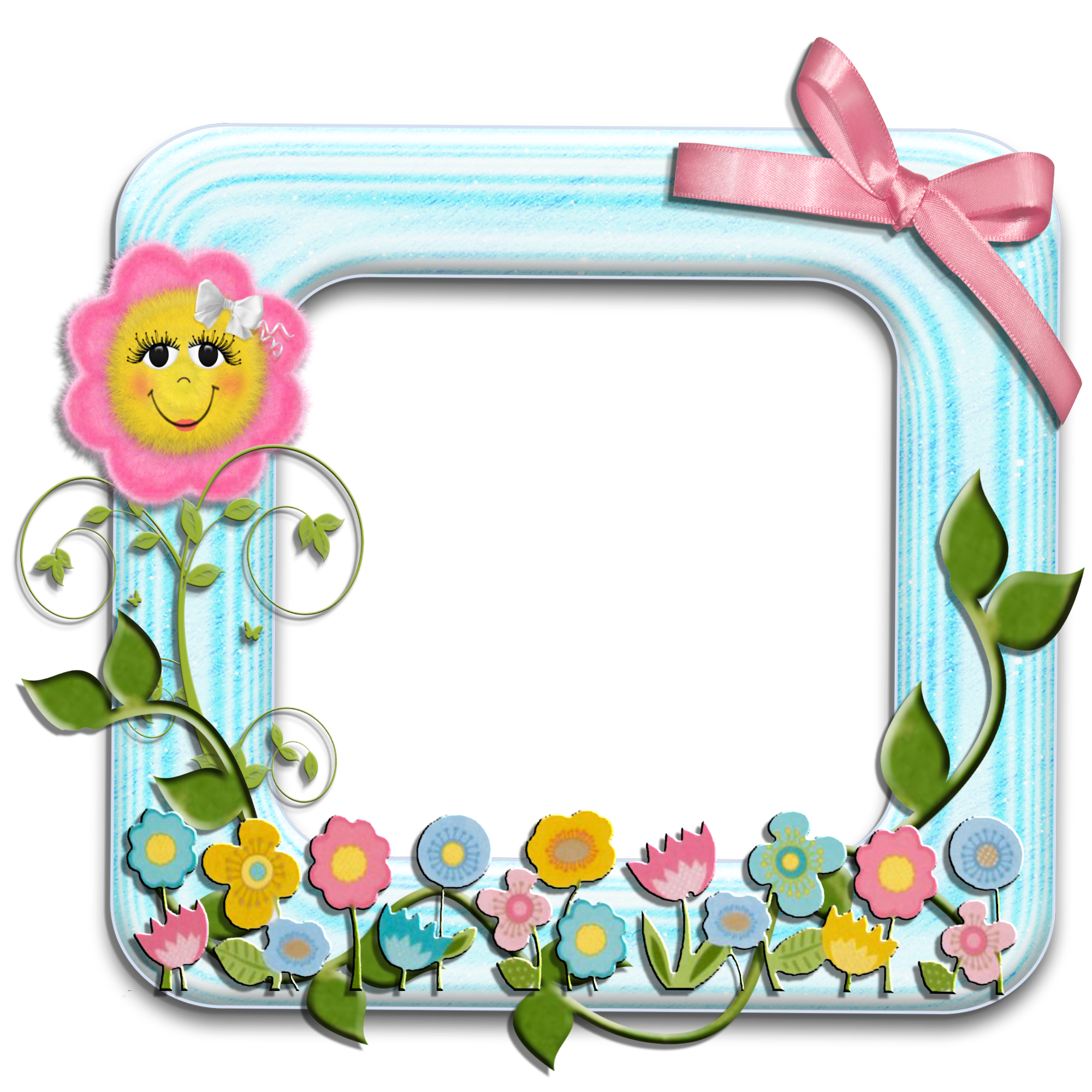 Picture Flower Frame Greeting Note Cards Birthday PNG Image