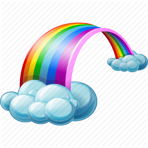 Rainbow Transparent Background PNG Image