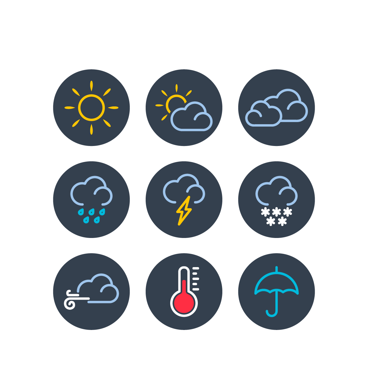 Web Illustration Vector Design Weather Responsive Icon PNG Image