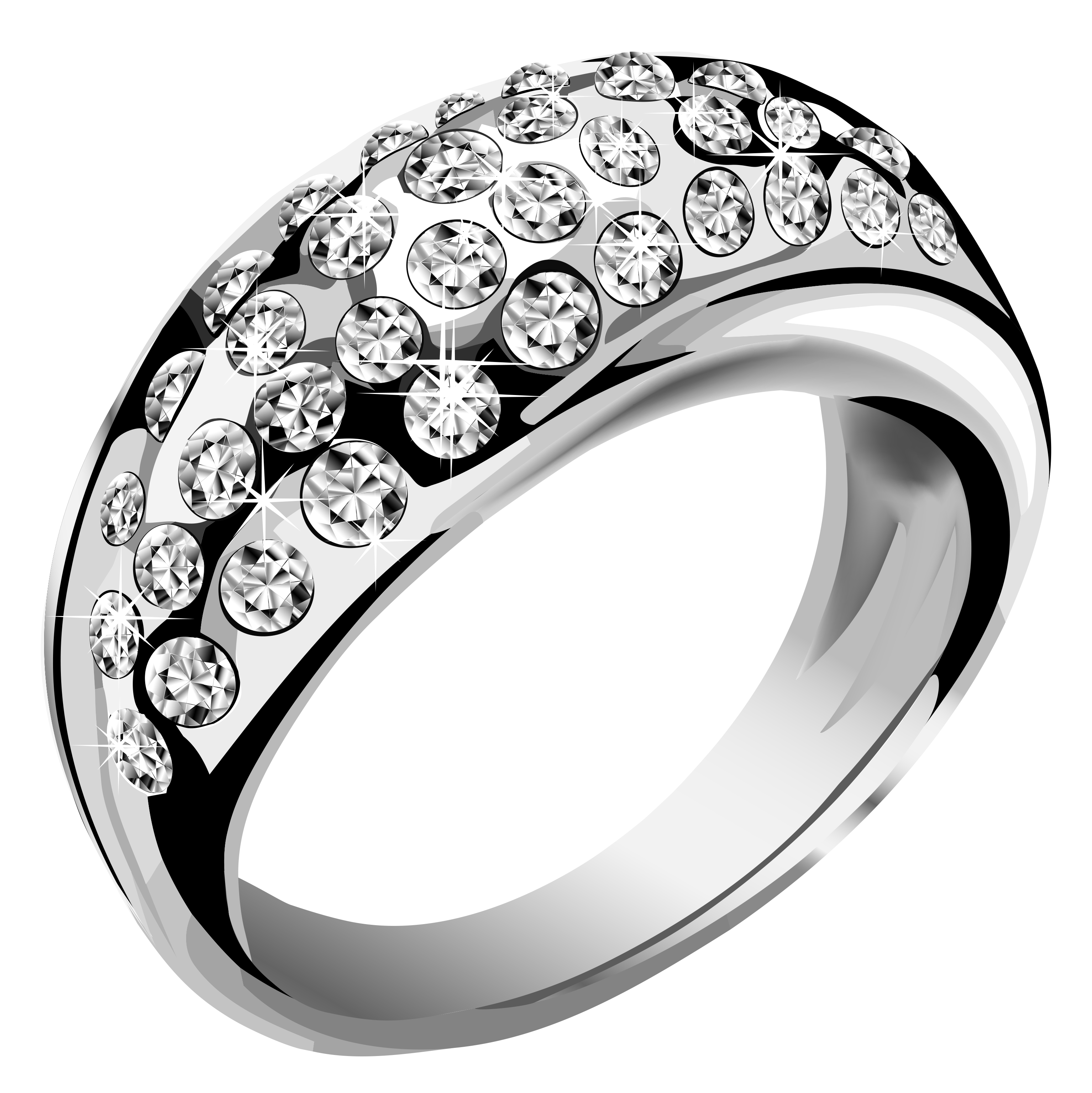Silver Ring Transparent Background PNG Image