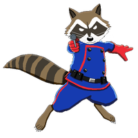 Rocket Raccoon Transparent Image PNG Image