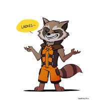 Rocket Raccoon Clipart PNG Image