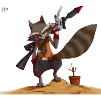 Rocket Raccoon Transparent PNG Image