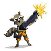 Rocket Raccoon PNG Image