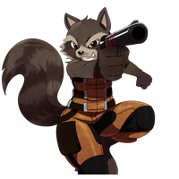 Rocket Raccoon Transparent Background PNG Image