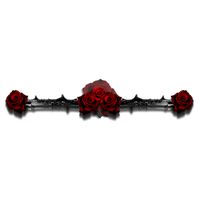 Gothic Rose Clipart PNG Image