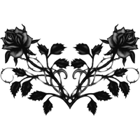 Gothic Rose Hd PNG Image