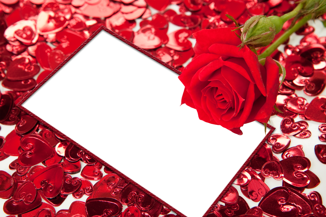 Picture Flower Heart Frame Video High-Definition Red PNG Image