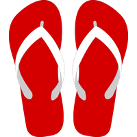 Beach Sandal Transparent Background PNG Image