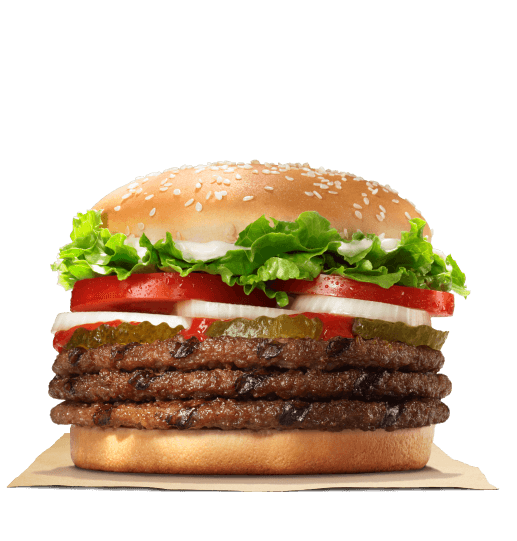 King Whopper Sandwich Hamburger Big Cheeseburger Burger PNG Image