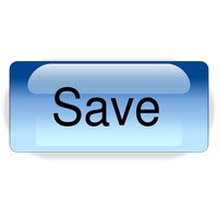 Save Button Clipart PNG Image