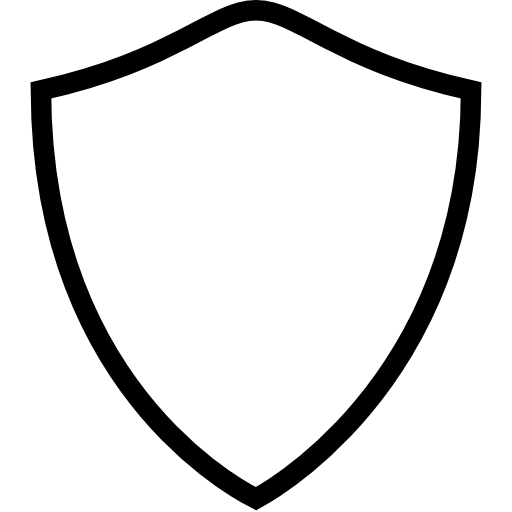 Shield Icon Blank PNG Image